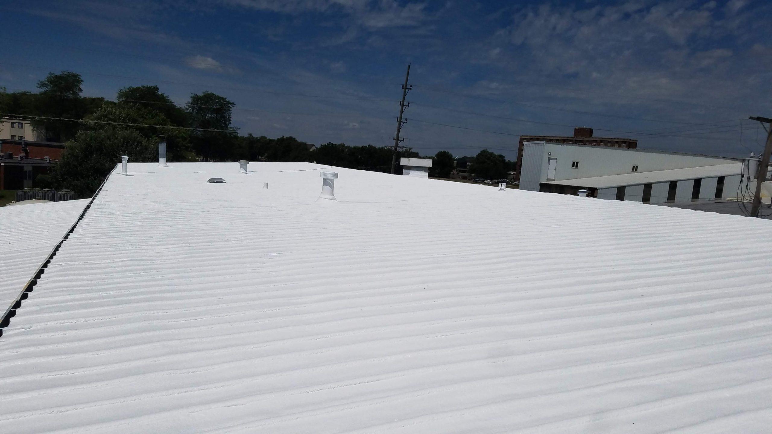 SPray foam roofing over metal roof