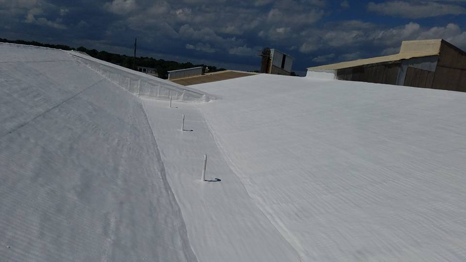 membrane coating on a rooftop