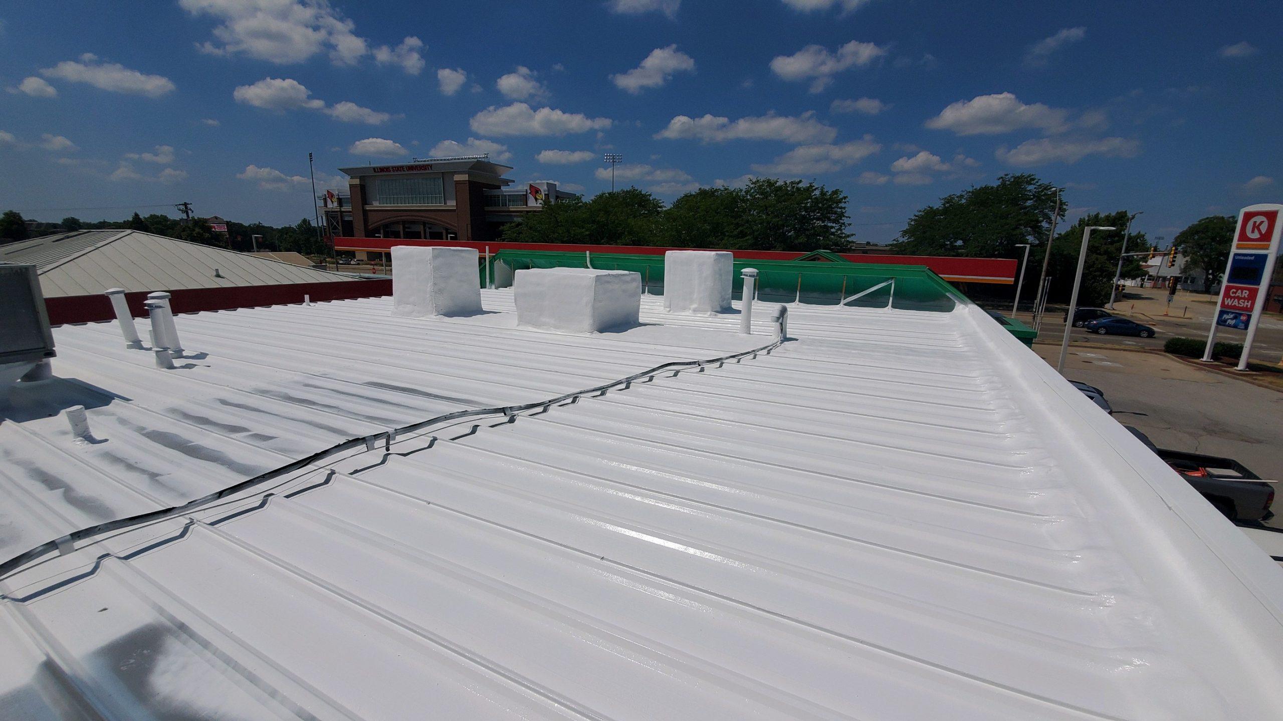 Roof repair job by nisleys qualityb coatings.